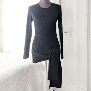 89th Madison - Charcoal knit knot top